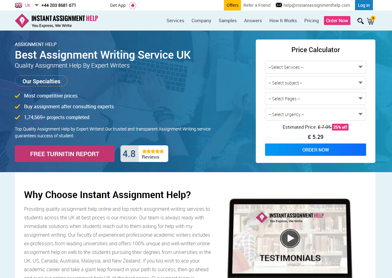InstantAssignmentHelp.com Review