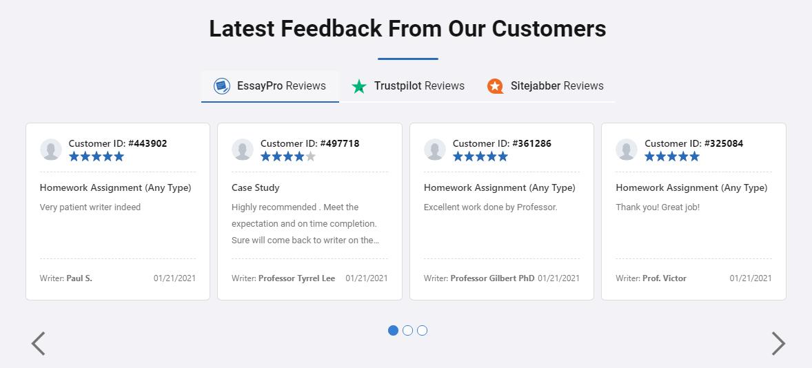essaypro.com review customer reviews