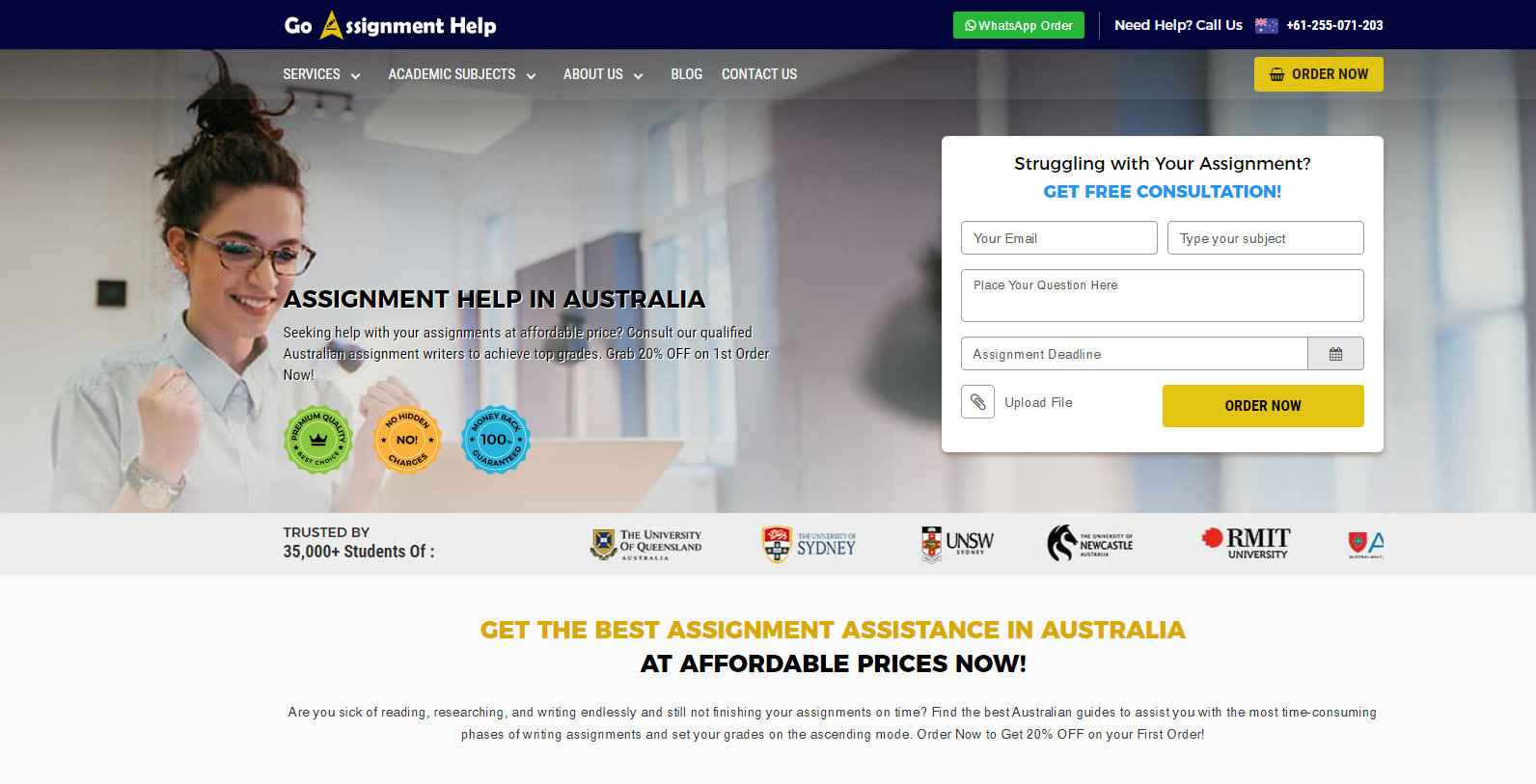 GoAssignmentHelp.com.au Review