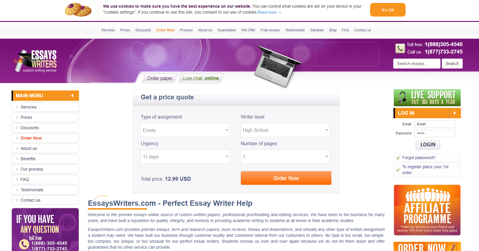EssaysWriters.com Review