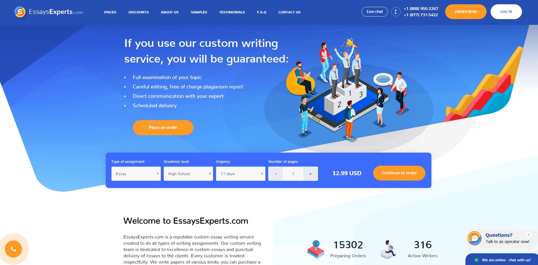 EssaysExperts.com Review